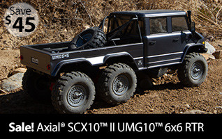 Axial 1/10 SCX10 II UMG10 6x6 Rock Crawler RTR