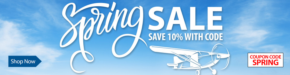 Save 10% on select RC Airplanes, Helis and more - now through April, 06 2020