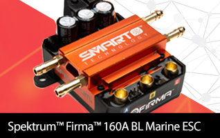 Spektrum Firma 160 Amp Smart Brushless Marine ESC