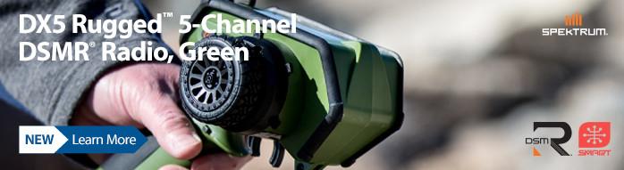 New! Spektrum DX5 Rugged 5-Channel DSMR Radio, Green