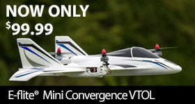NOW ONLY $99.99 E-flite Mini Convergence VTOL