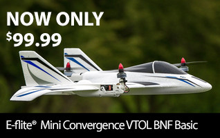E-flite Mini Convergence BNF Basic NOW ONLY $99.99