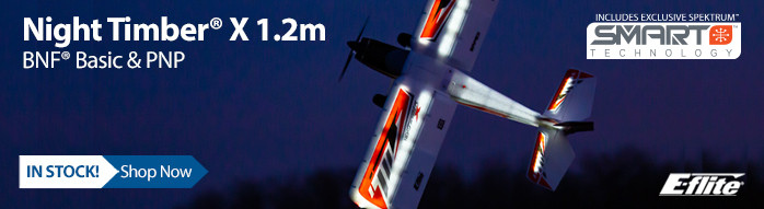 In Stock! E-flite Night Timber X 1.2m
