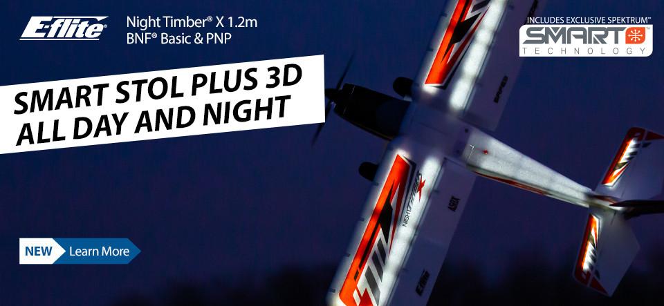 New! E-flite Night Timber X 1.2m