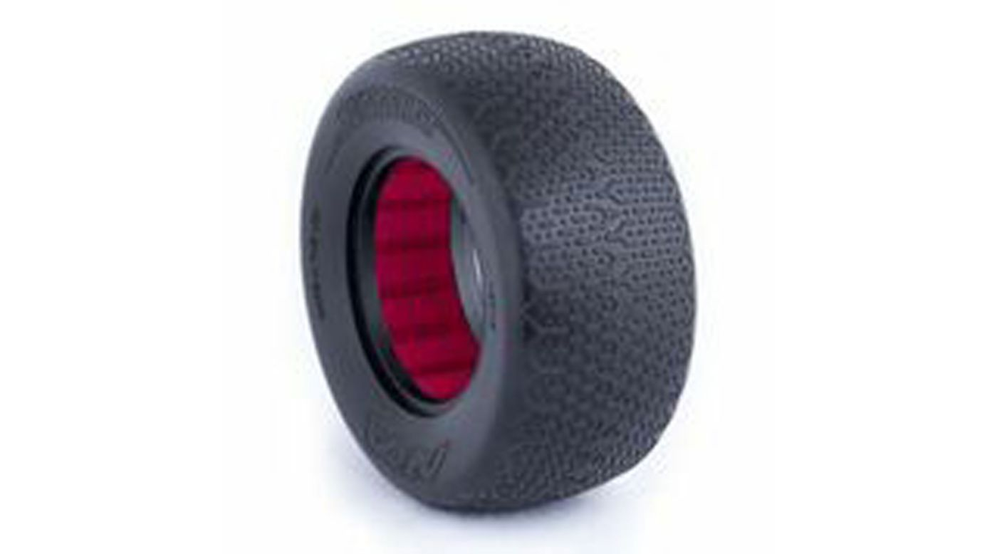 Image for 1/10 Typo SC Wide Clay Front/Rear Tire with Red Insert (2) from HorizonHobby
