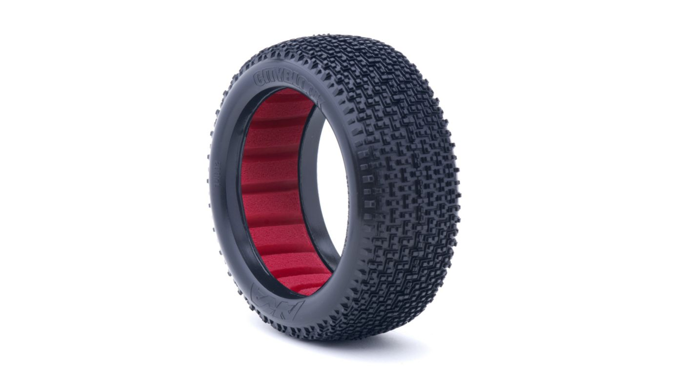 Image for 1/8 CITYBLOCK Soft Front/Rear Tire with Red Insert: Buggy (2) from HorizonHobby