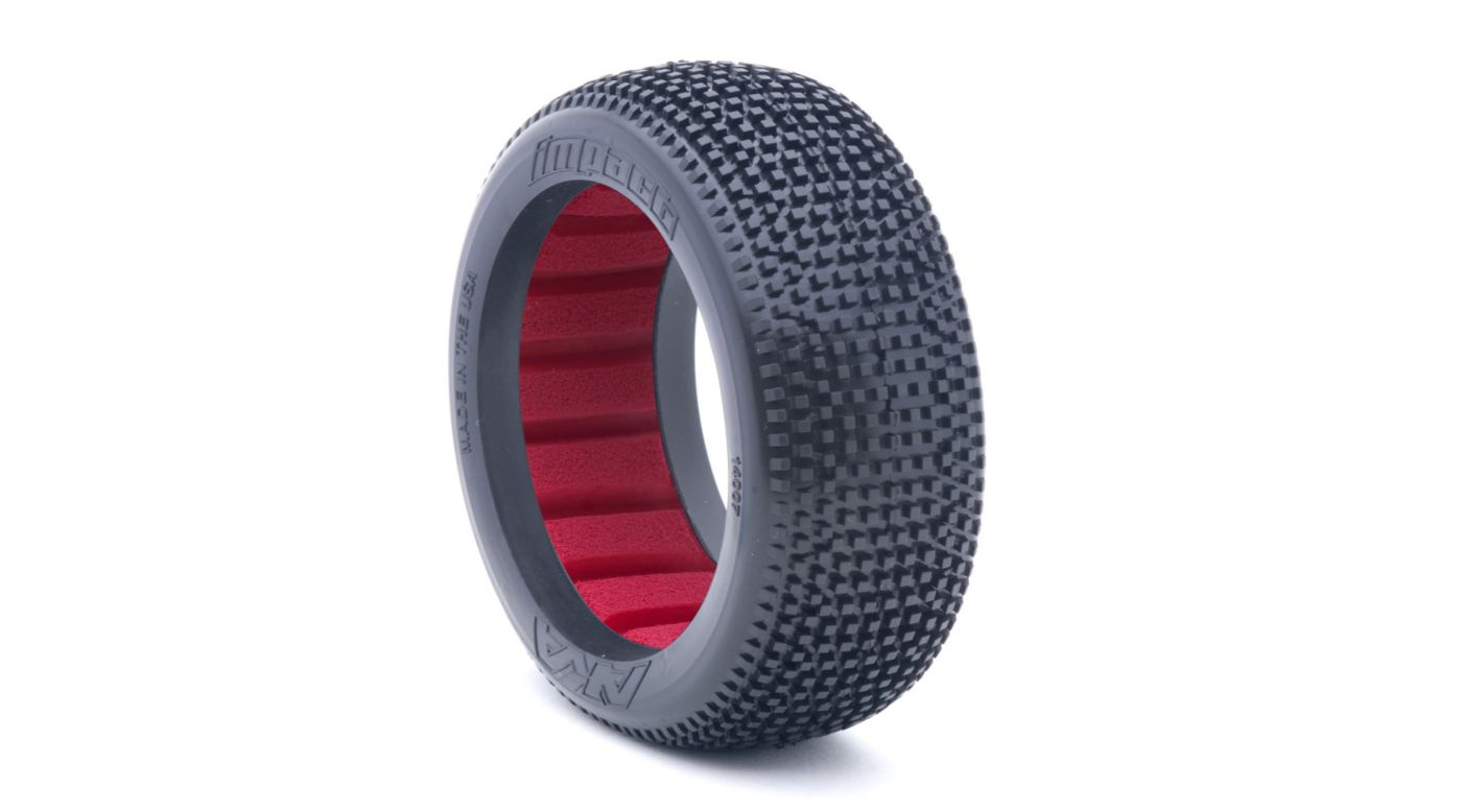 Image for 1/8 Impact Super Soft Front/Rear Tire with Red Insert: Buggy (2) from HorizonHobby