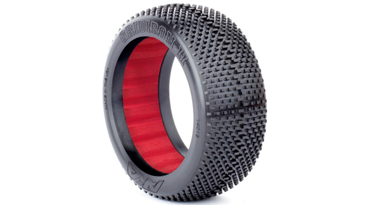 Image for 1/8 Gridiron II Soft Front/Rear Tire with Red Insert: Buggy (2) from HorizonHobby
