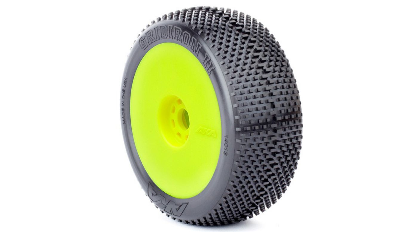 Image for 1/8 Gridiron II Super EVO Soft Front/Rear Wheel Mounted, Yellow: Buggy (2) from HorizonHobby