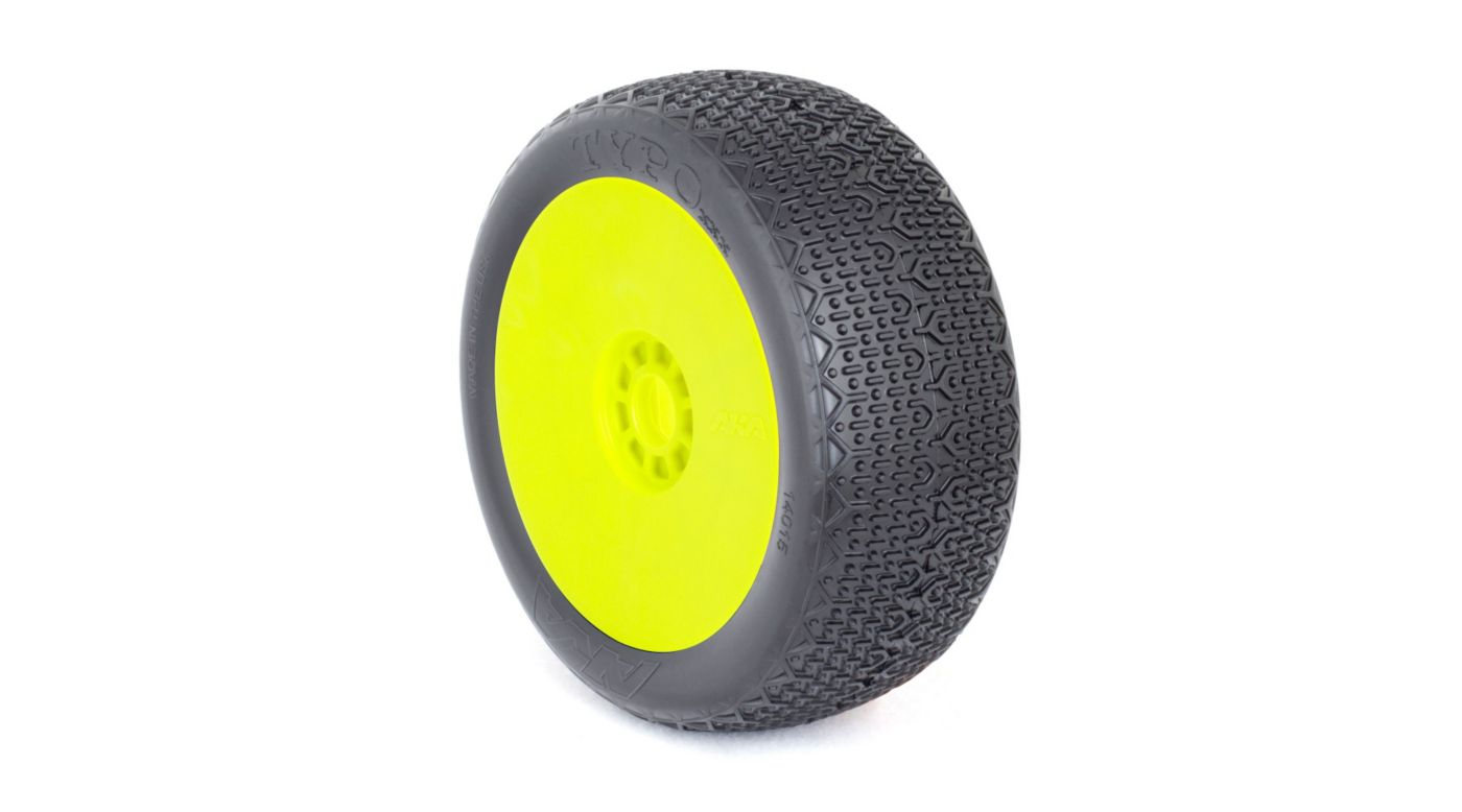 Image for 1/8 Typo EVO Clay Front/Rear Wheel Mounted, Yellow: Buggy (2) from HorizonHobby