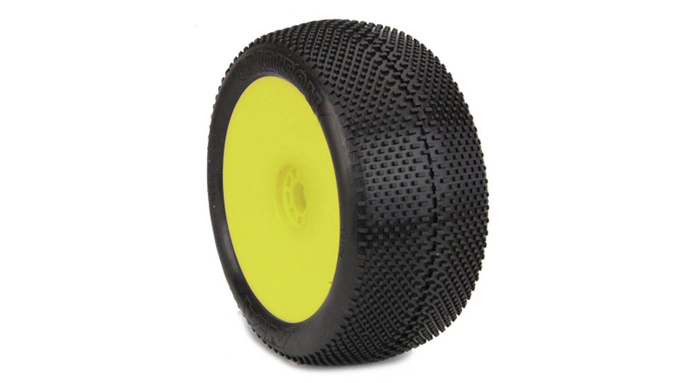 Image for 1/8 GRIDIRON EVO Super Soft Front/Rear Mounted Wheel, Yellow: Truggy (2) from HorizonHobby
