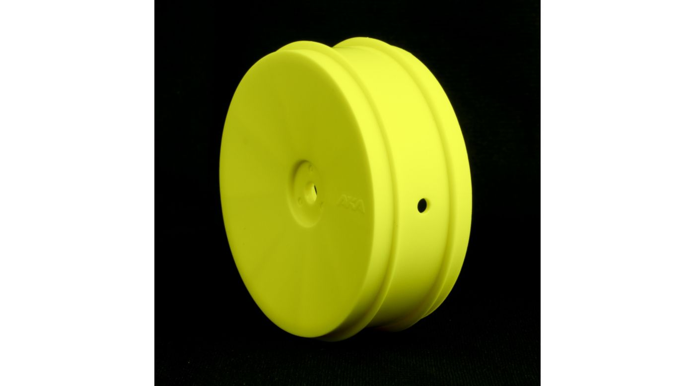Image for 1/10 Buggy EVO Front Wheel, Yellow: ASC, KYO (2) from HorizonHobby