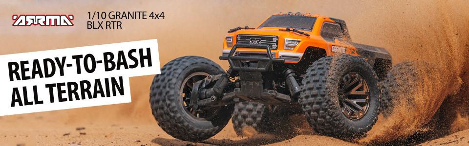 ARRMA 1/10 Granite 4x4 BLX Monster Truck RTR, Orange/Black