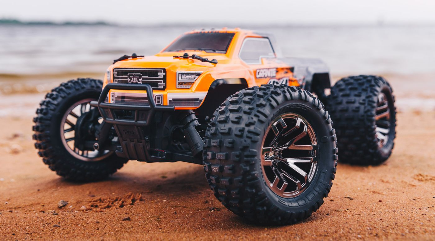 Image for 1/10 GRANITE 3S BLX 4WD Brushless Monster Truck RTR, Orange/Black from HorizonHobby