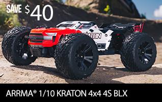 ARRMA 1/10 KRATON 4x4 4S BLX Brushless Monster Truck with Spektrum RTR