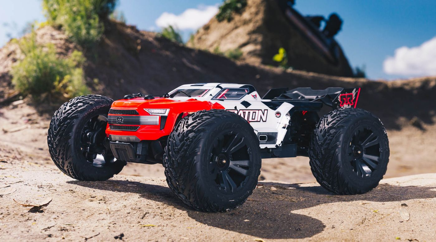 Image for 1/10 KRATON 4x4 4S BLX Brushless Monster Truck with Spektrum RTR, Red from Horizon Hobby