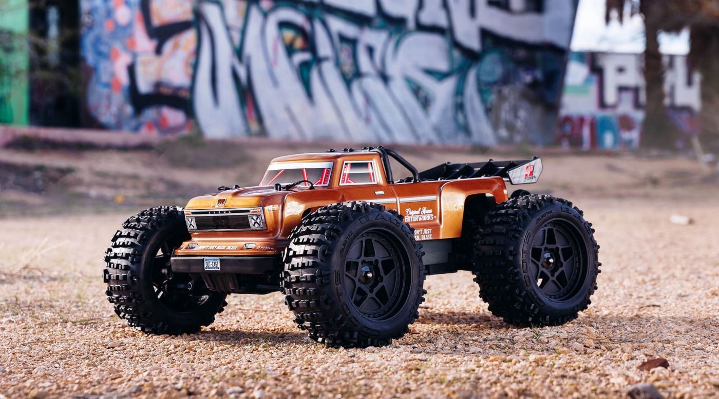Image for 1/10 OUTCAST 4x4 4S BLX Brushless Stunt Truck with Spektrum RTR, Bronze from Horizon Hobby