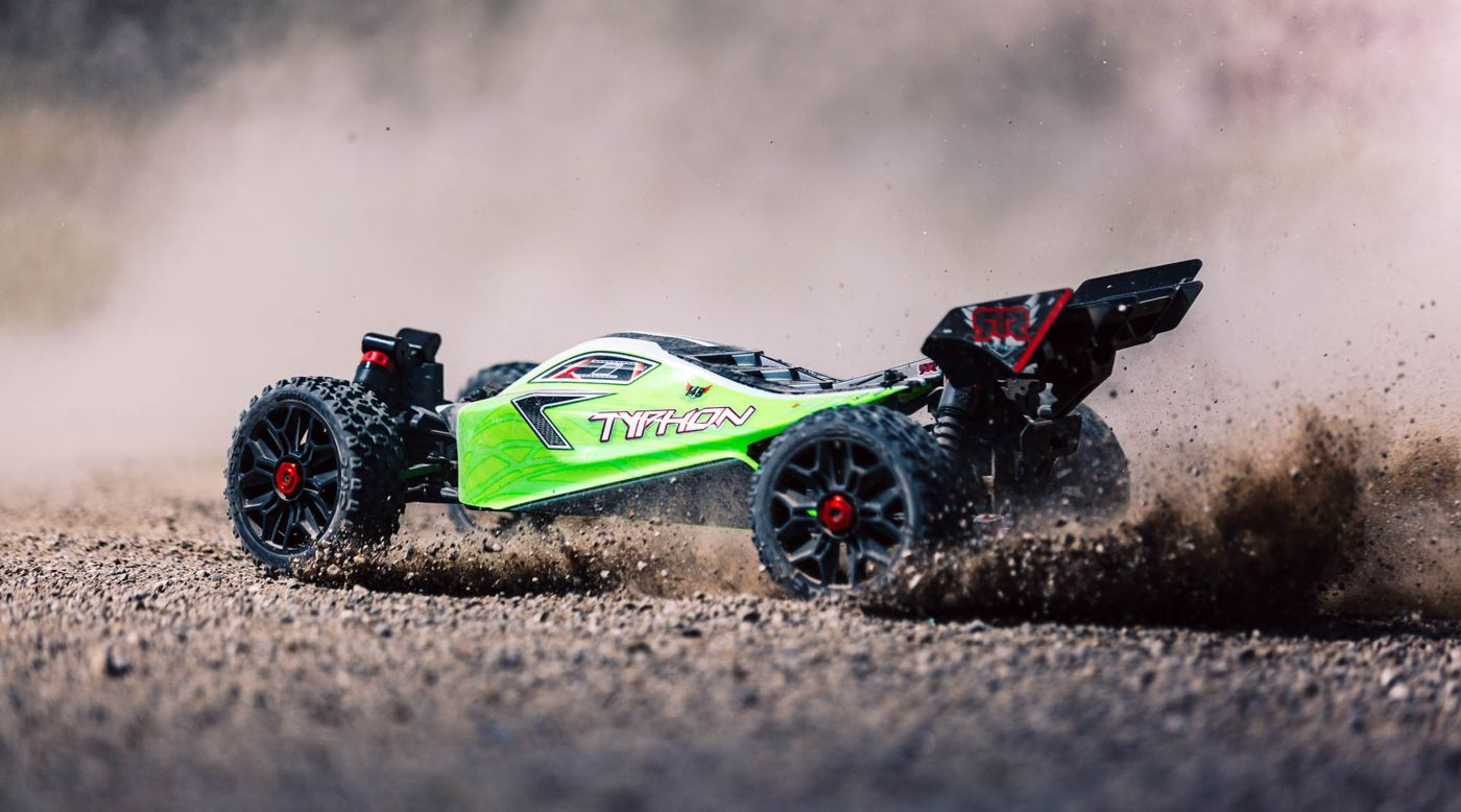 Image for 1/8 TYPHON MEGA 550 Brushed 4WD Speed Buggy RTR, Green from HorizonHobby