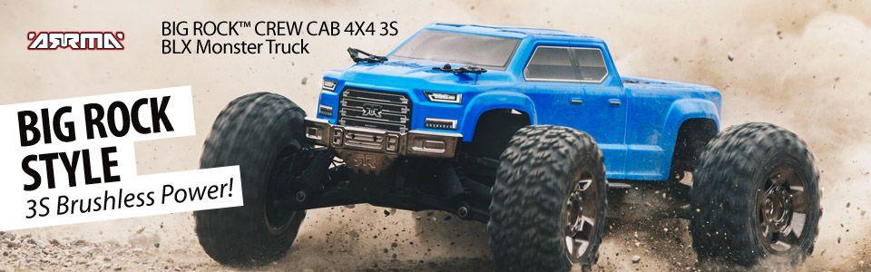 BIG ROCK CREW CAB 4X4 BLX Brushless 1/10 MT