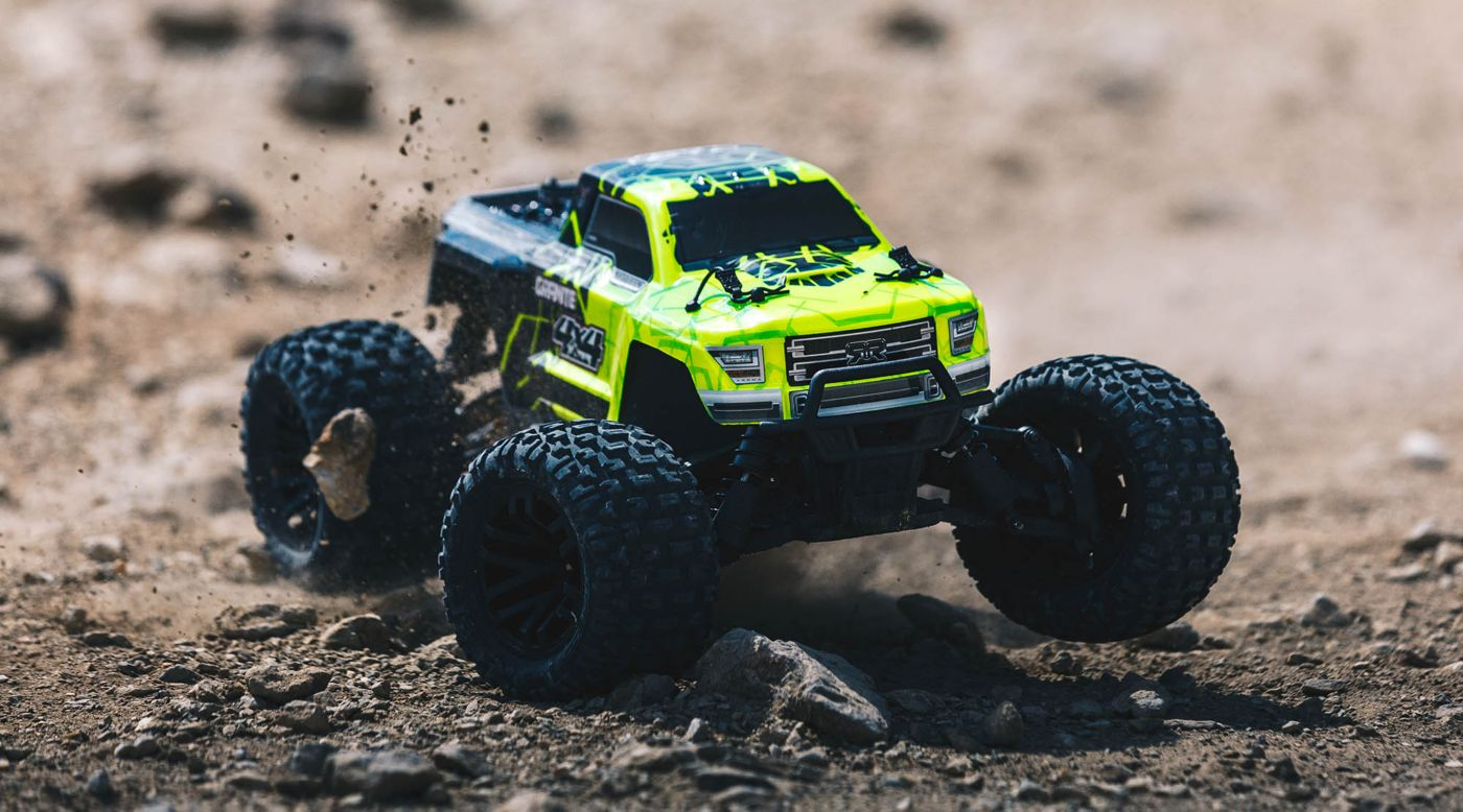Image for 1/10 GRANITE MEGA 550 Brushed 4WD Monster Truck RTR, Green/Black from HorizonHobby
