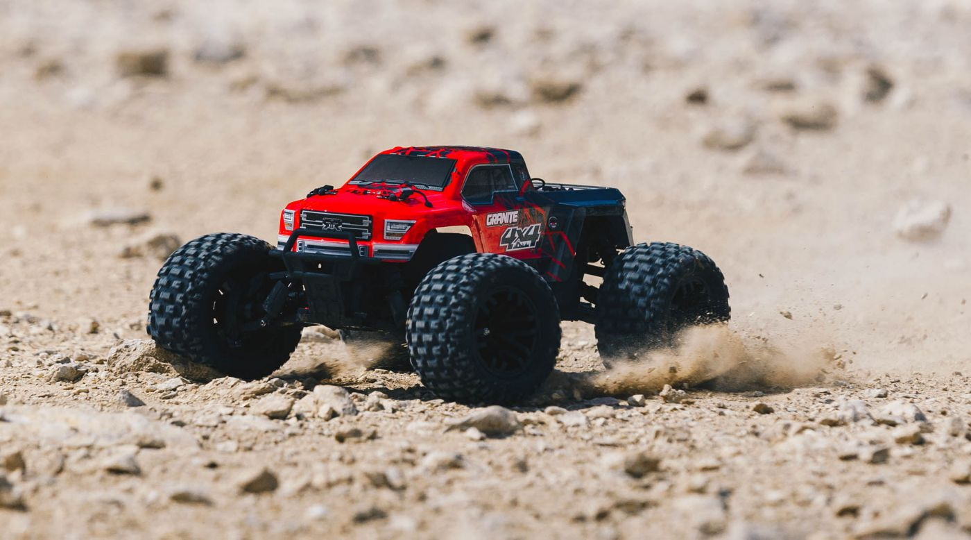 Image for 1/10 GRANITE MEGA 550 Brushed 4WD Monster Truck RTR, Red/Black from HorizonHobby