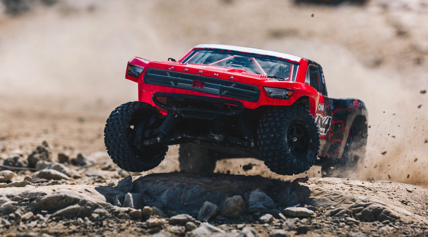 Image for 1/10 SENTON MEGA 550 Brushed 4WD Short Course Truck RTR, Red/Black from HorizonHobby