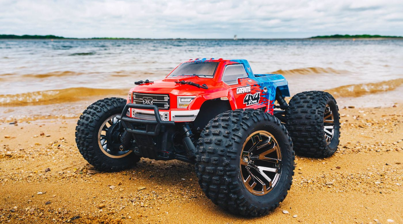 Image for 1/10 GRANITE 3S BLX 4WD Brushless Monster Truck with Spektrum RTR, Red/Blue from HorizonHobby