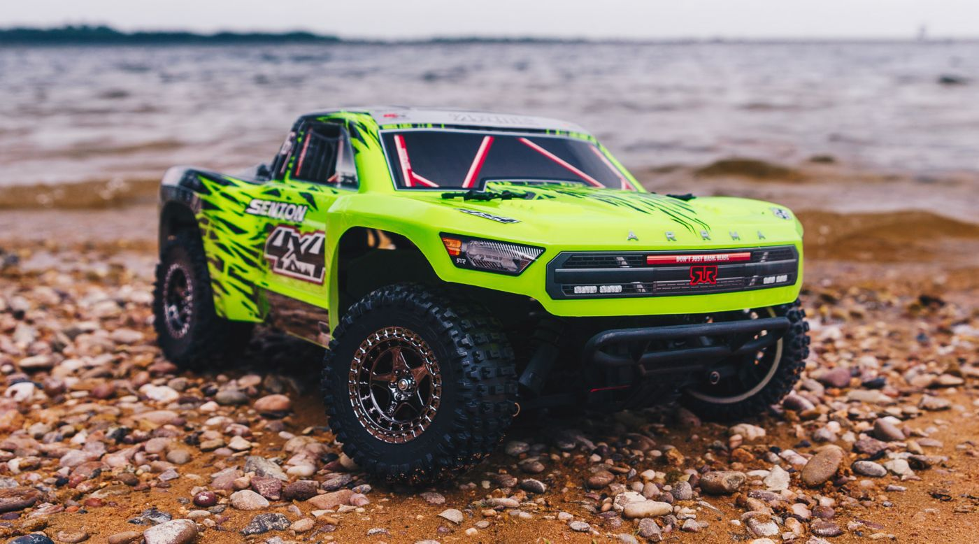 Image for 1/10 SENTON 3S BLX 4WD Brushless Short Course Truck with Spektrum RTR, Green/Black from Horizon Hobby