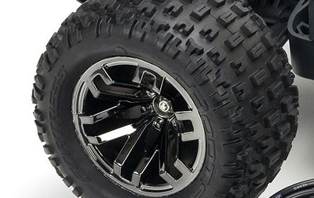 dBoots<sup>®</sup> FORTRESS SCT Multi-terrain Tyres on Black Chrome Multi-spoke Wheels