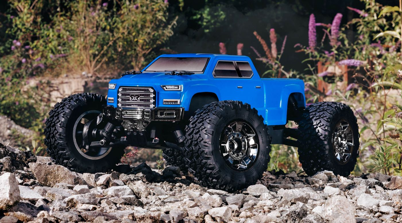 Image for 1/10 BIG ROCK CREW CAB 3S BLX 4WD Brushless Monster Truck with Spektrum RTR, Blue from HorizonHobby
