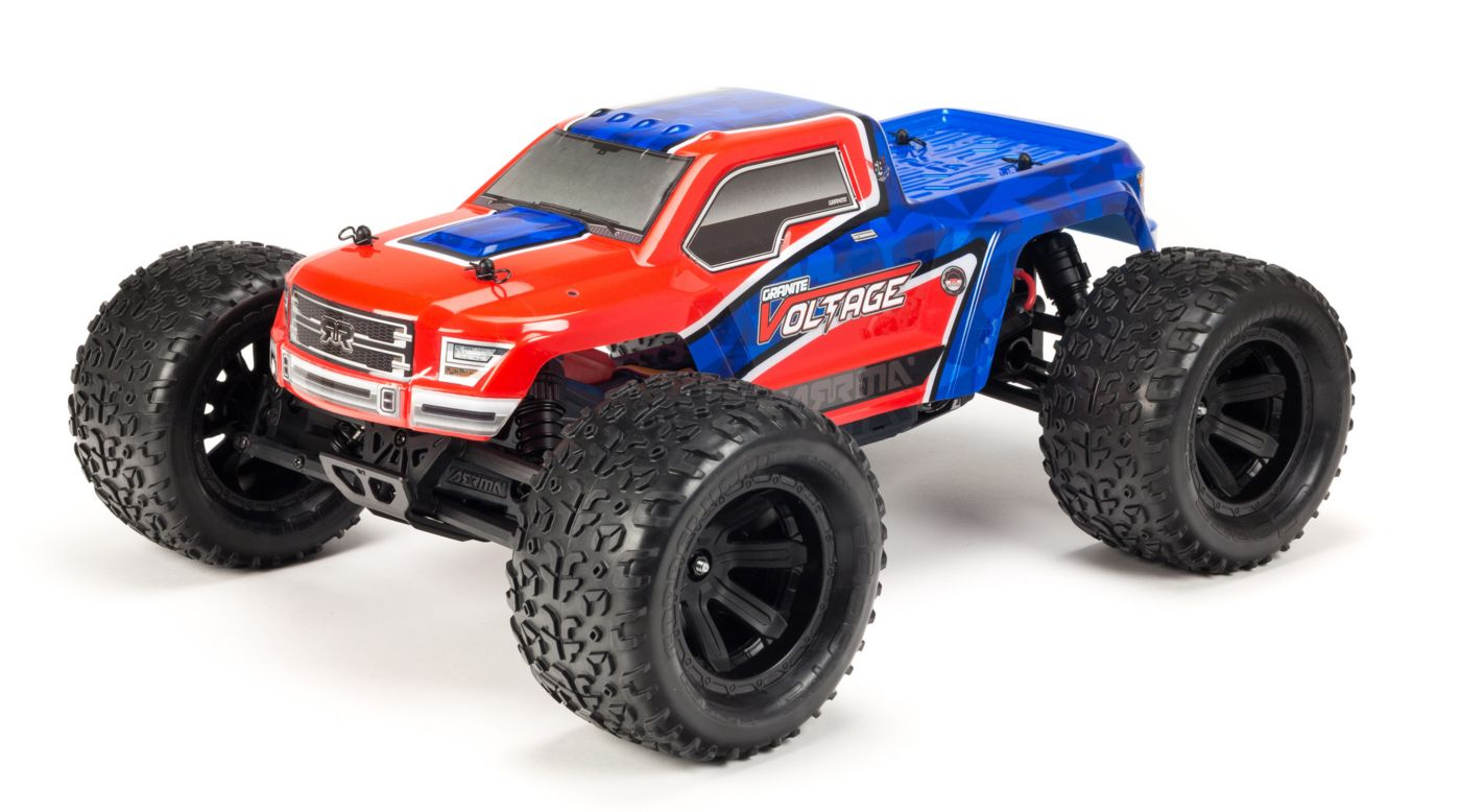 Image for 1/10 Granite Voltage 2WD Brushed Mega Monster Truck RTR, Red/Blue from HorizonHobby