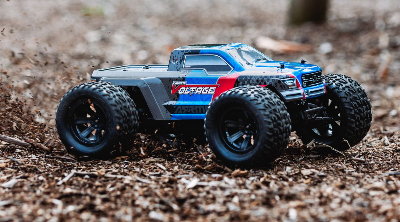 Image for 1/10 Granite Voltage 2WD Brushed Mega Monster Truck RTR, Blue/Black from HorizonHobby