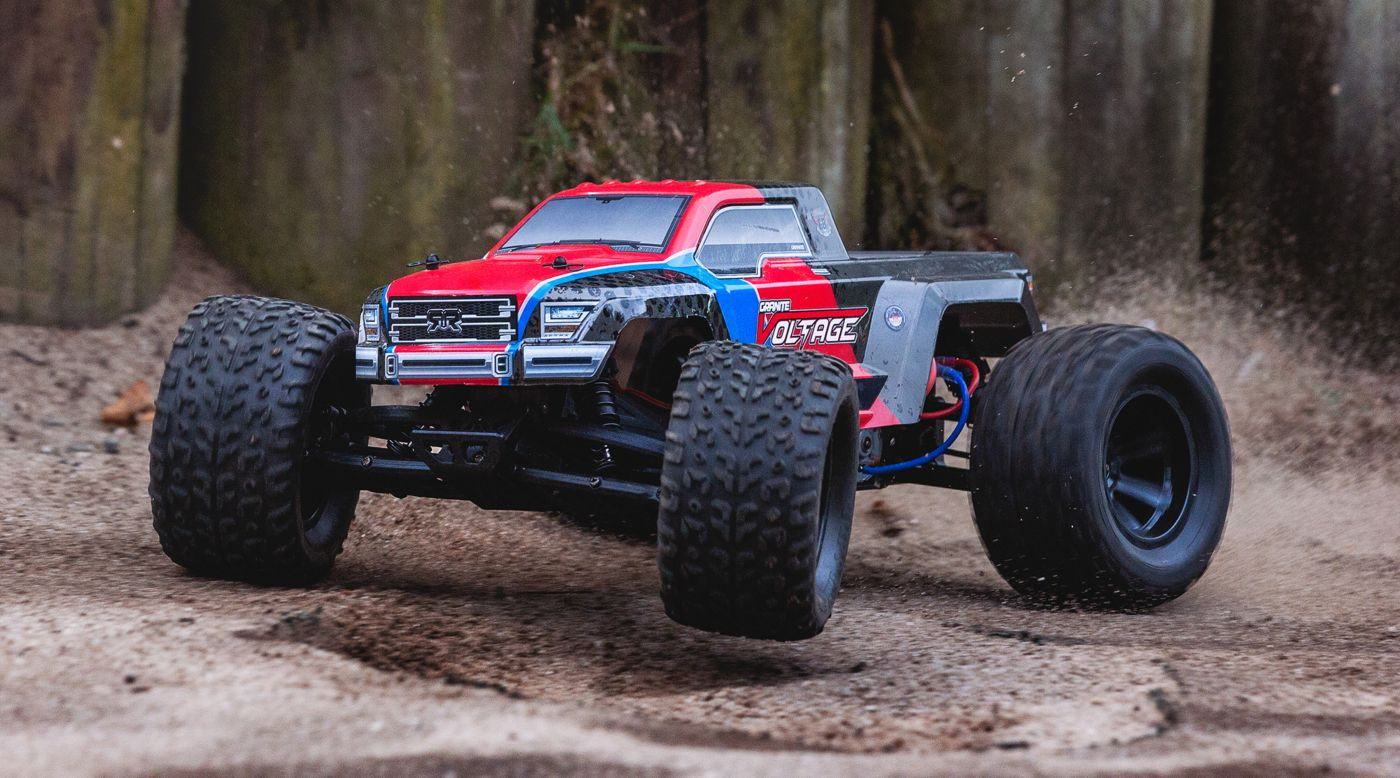 Image for 1/10 Granite Voltage 2WD Brushed Mega Monster Truck RTR, Red/Black from HorizonHobby