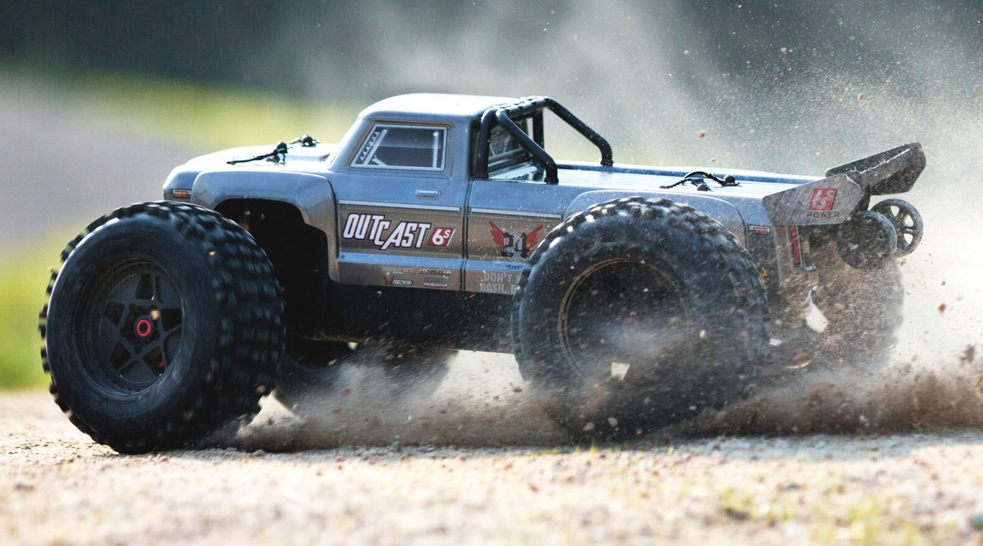 Image for 1/8 OUTCAST 6S BLX 4WD Brushless Stunt Truck with Spektrum RTR, Silver from HorizonHobby