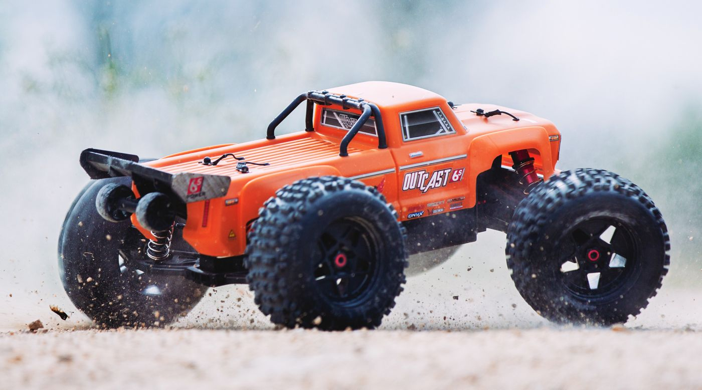 Image for 1/8 OUTCAST 6S BLX 4WD Brushless Stunt Truck with Spektrum RTR, Orange from HorizonHobby