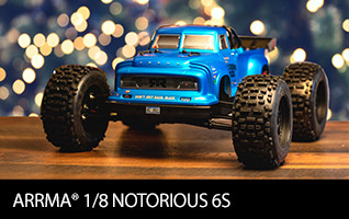 ARRMA 1/8 NOTORIOUS 6S BLX 4WD Brushless Classic Stunt Truck with Spektrum RTR