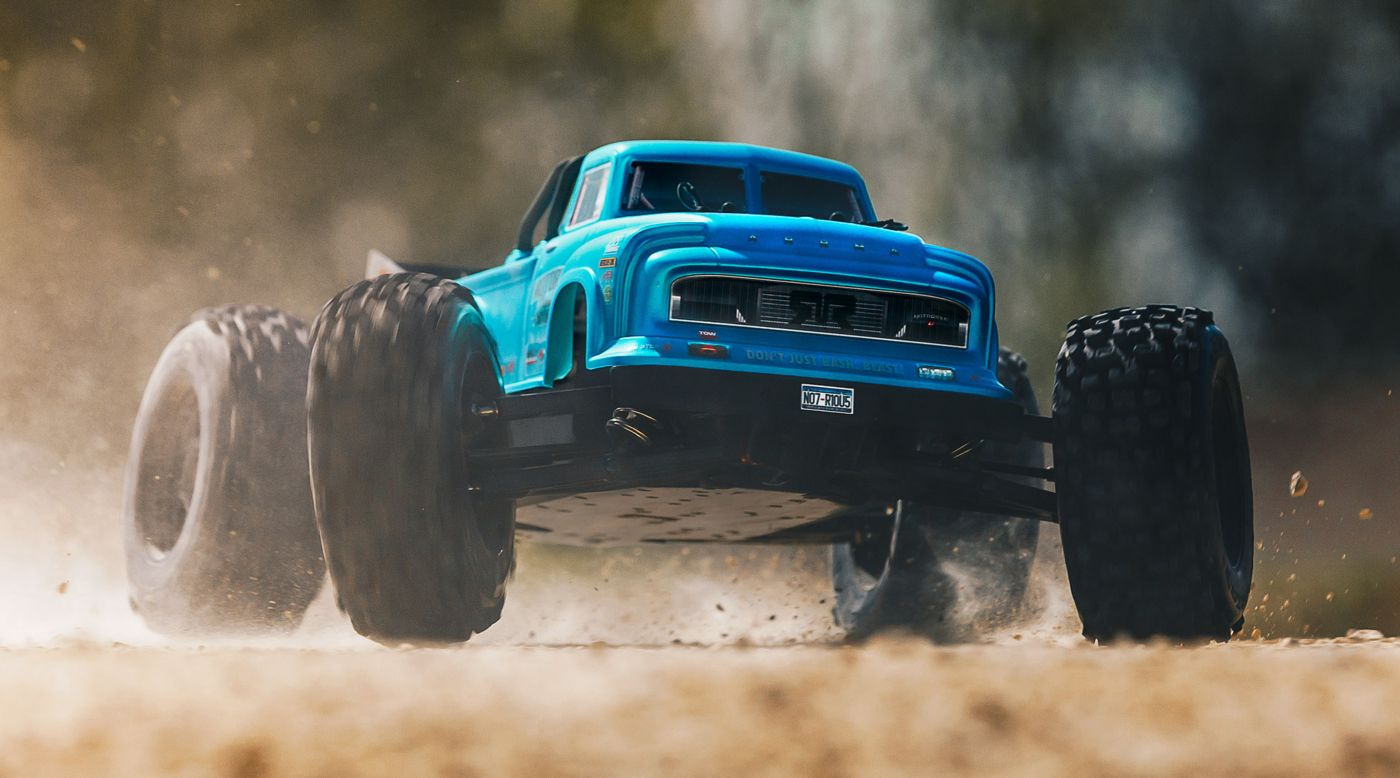 Image for 1/8 NOTORIOUS 6S BLX 4WD Brushless Classic Stunt Truck with Spektrum RTR, Blue from HorizonHobby