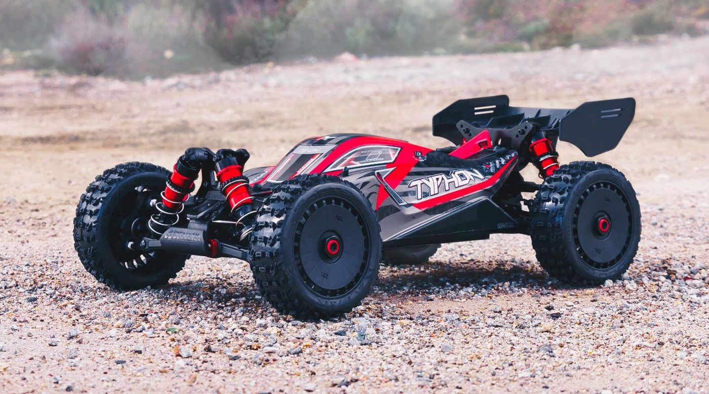 Image for 1/8 TYPHON 6S BLX 4WD Brushless Buggy with Spektrum RTR, Red/Grey from Horizon Hobby