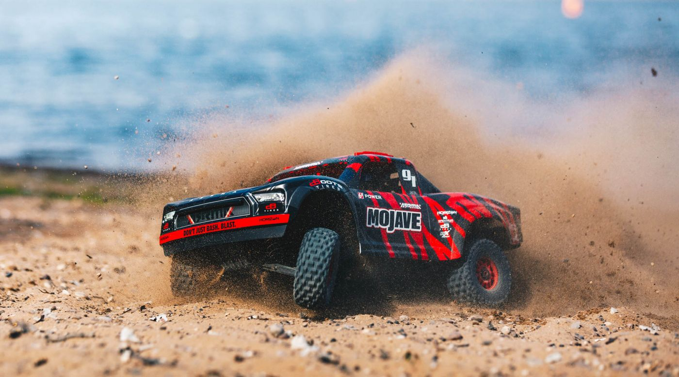 Image for 1/7 MOJAVE 6S BLX 4WD Brushless Desert Truck RTR, Red/Black from HorizonHobby