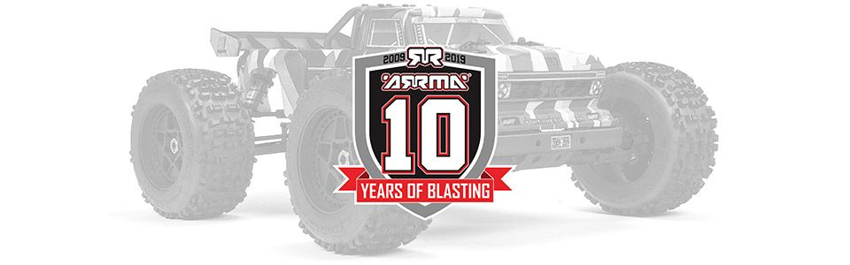 OUTCAST 10<sup>th</sup> Anniversary Limited Edition 6S BLX 4WD Stunt Truck RTR