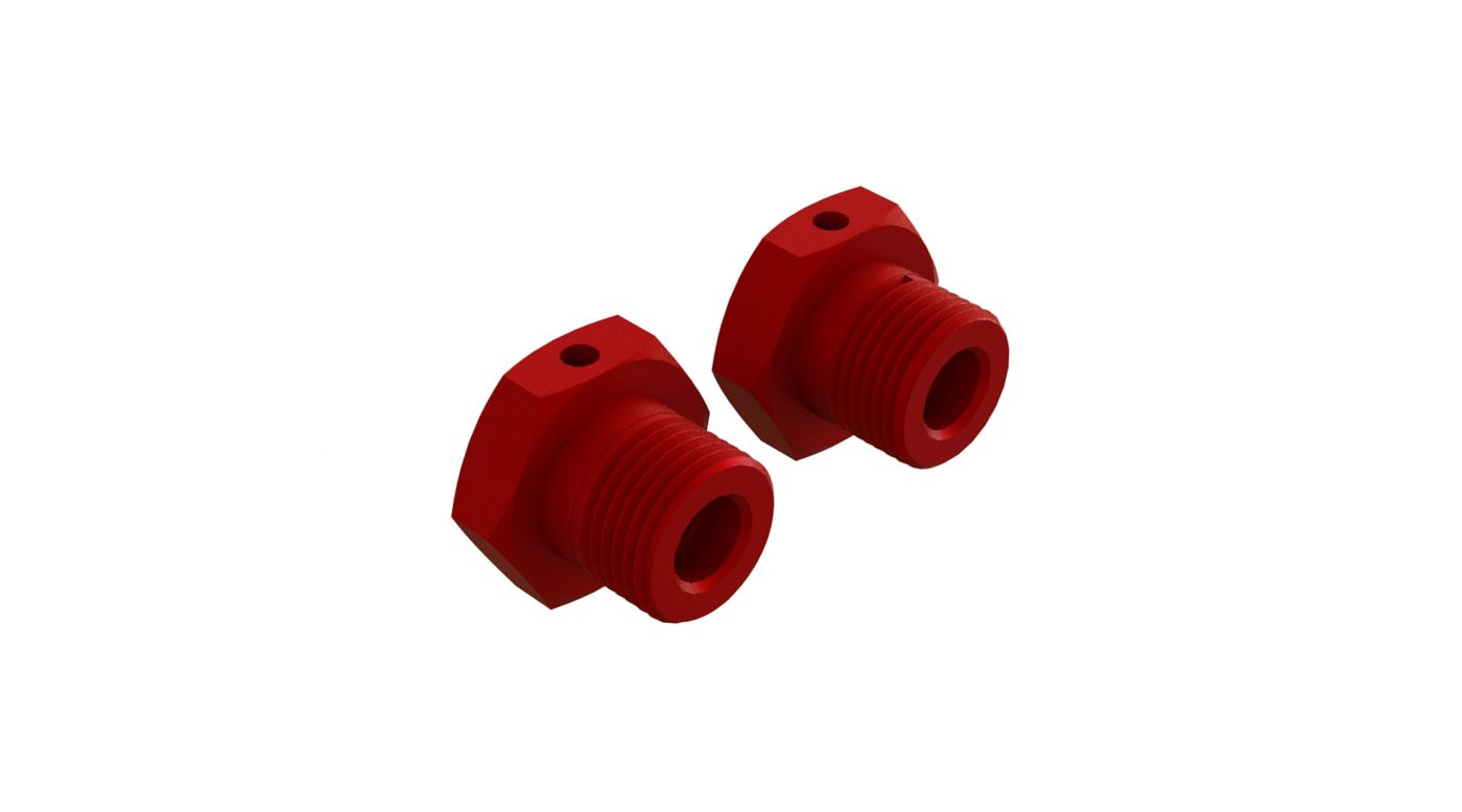 Grafik für Aluminum Wheel Hex 17mm Red (2) in Horizon Hobby