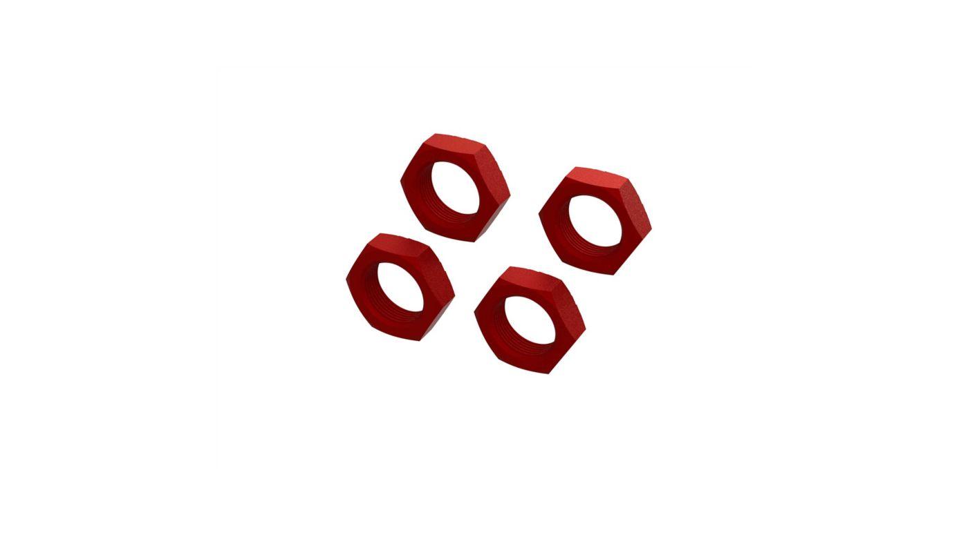 Image for Aluminum Wheel Nut 24mm, Red (4) from HorizonHobby