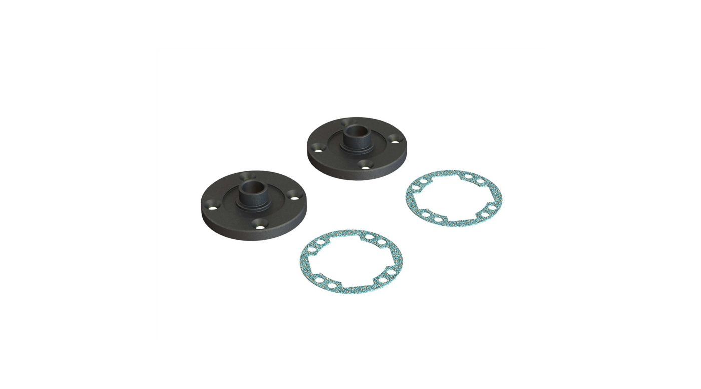 Image for Metal Diff Cap Set from HorizonHobby