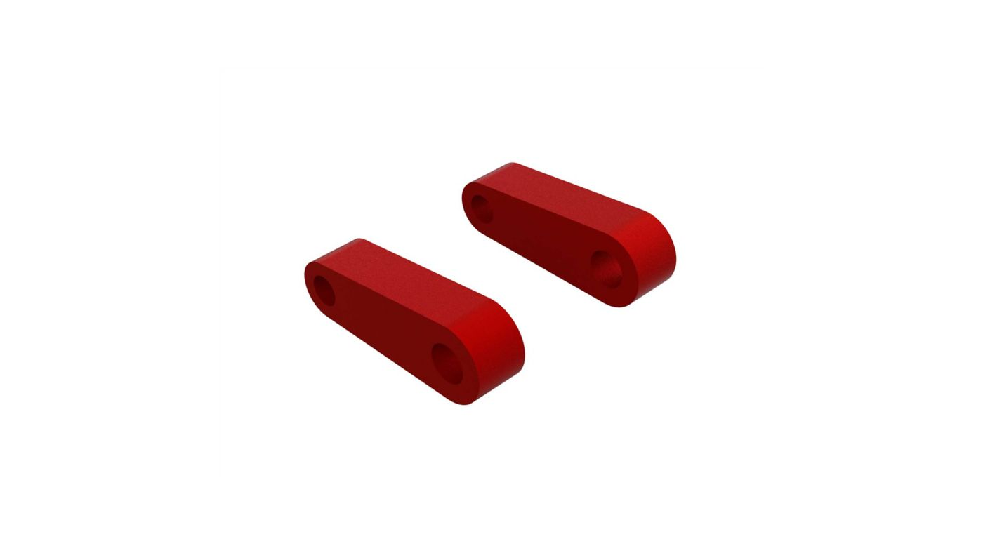 Image for Aluminum Fr Suspension Mounts, Red (2) from HorizonHobby