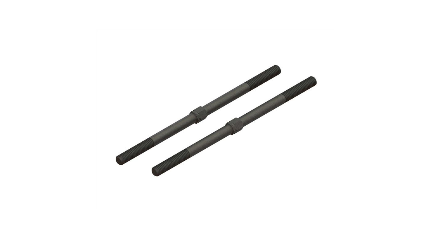 Image for Steel Turnbuckle M6x130mm (Black) (2) from HorizonHobby