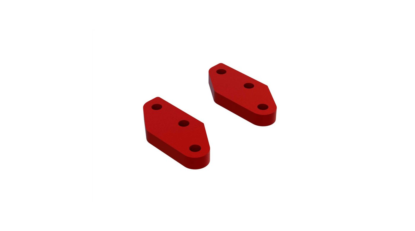 Image for Aluminum Steering Plate A (Red) (2) from HorizonHobby
