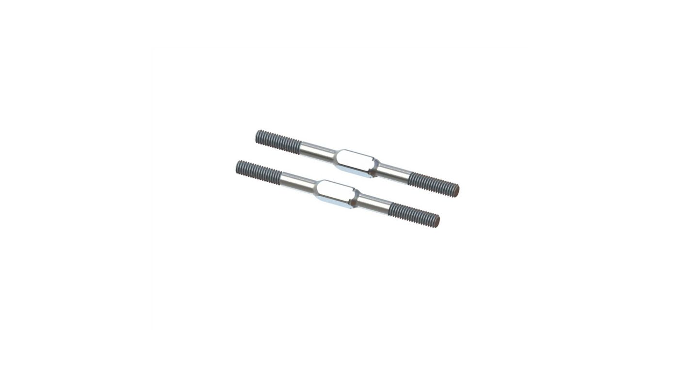 Image for Steel Turnbuckle, M4x60mm Silver (2) from Horizon Hobby