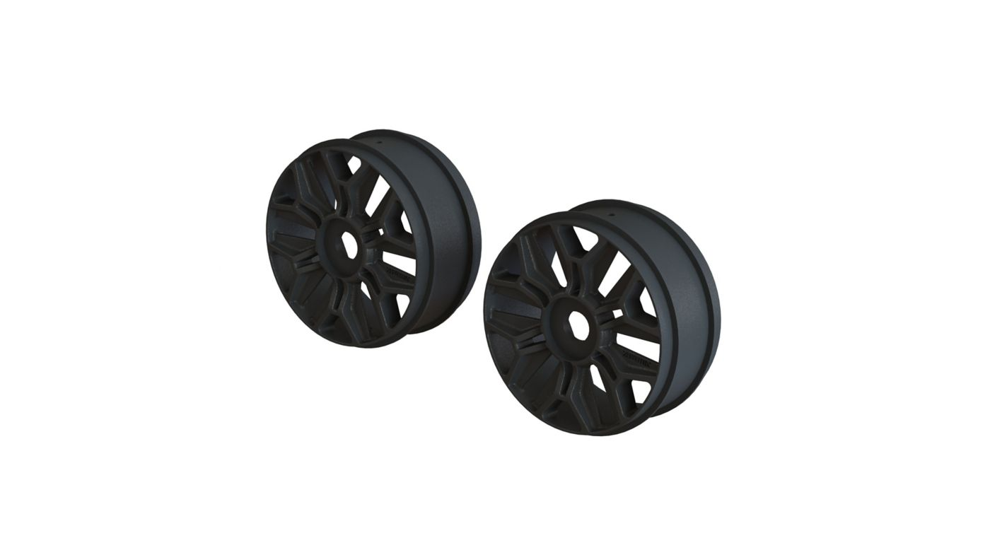 Image for 1/8 Front/Rear Buggy 3.3 Wheel, 17mm Hex, Black (2) from HorizonHobby