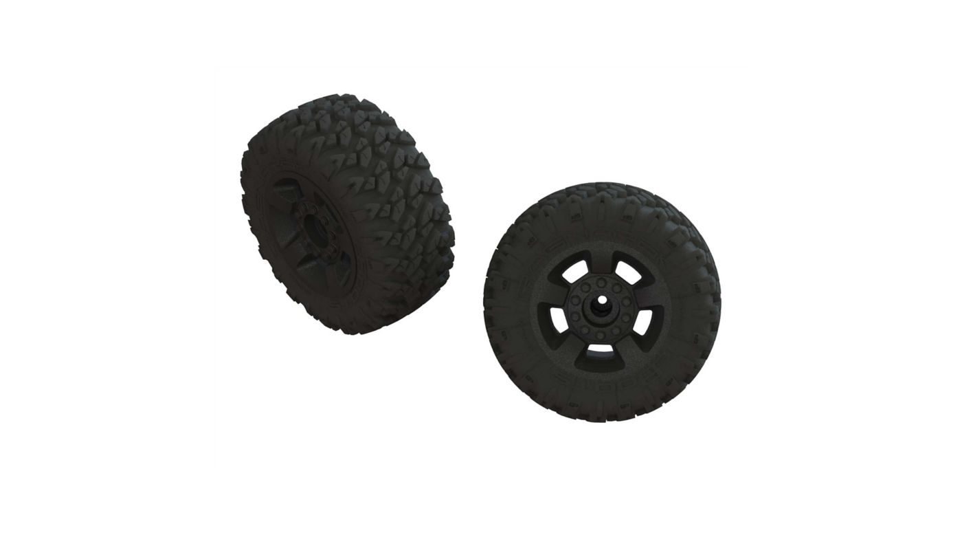 Image for 1/8 dBoots RAGNAROK MT Front/Rear 2.8 Pre-Mounted Tires, 14mm Hex, Black (2) from HorizonHobby