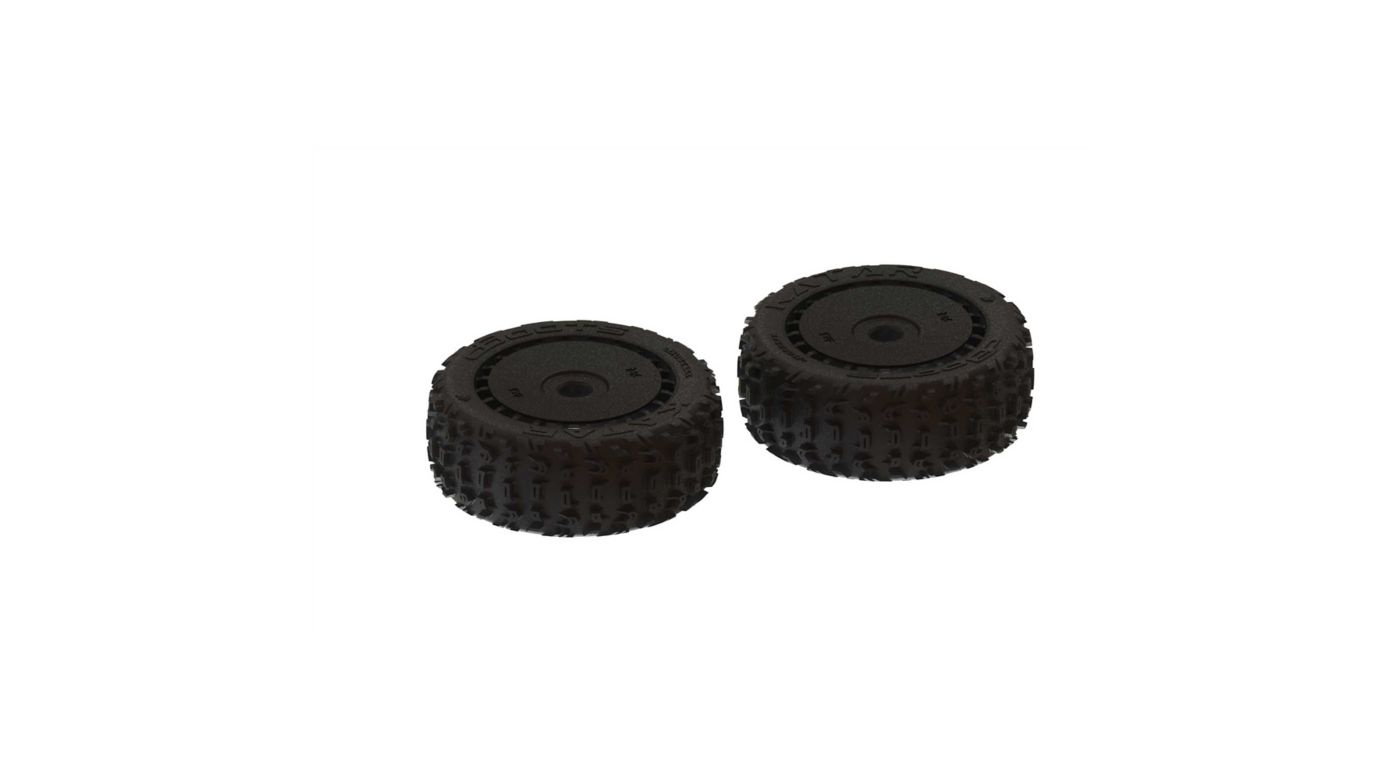 Image for 1/8 dBoots Front/Rear 3.3 Pre-Mounted Tires, 17mm Hex, Black (2): Katar B 6S from HorizonHobby